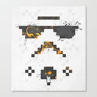 8-bit Trooper Canvas Print