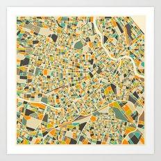 Vienna Map Art Print
