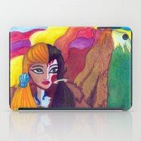 Somewhere Between Good & Evil {Mixed Media: watercolor, gouache, acrylic} iPad Case