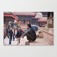 Kathmandu - Tibetan Temp… Canvas Print