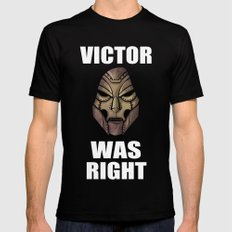 Victor Was Right Black Mens Fitted Tee SMALL