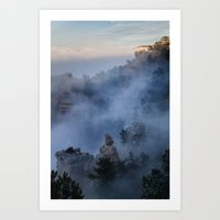 Grand Canyon Fog Art Print