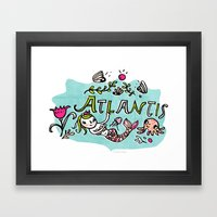 Candy Atlantis Framed Art Print