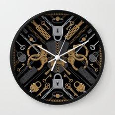 S&M Scarf Print Wall Clock