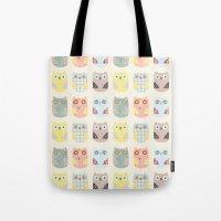 Owls Pattern Tote Bag