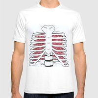 Internal Mens Fitted Tee White SMALL