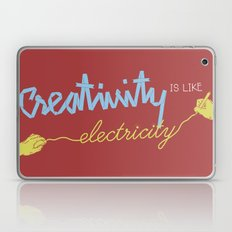 creativity is like electricity Laptop & iPad Skin