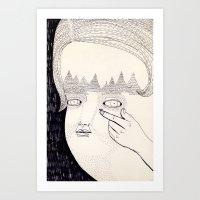 Lente De Contacto Art Print
