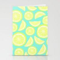 Lemon Citrus Stationery Cards