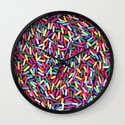Encrusted With Sprinkles Wall Clock