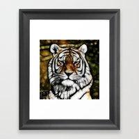 Painted Tiger Framed Art Print