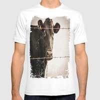How Now, Brown Cow? Mens Fitted Tee White SMALL