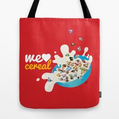 We Love Cereal Tote Bag