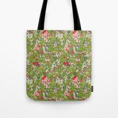 painted floral Tote Bag