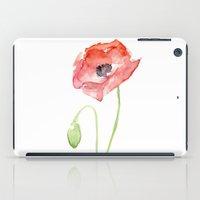 Red Poppy Flower iPad Case