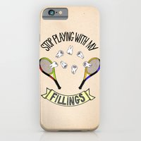 iPhone & iPod Case featuring STOP PLAYING WITH MY FILLINGS (vintage) by Dianah B