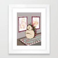 Hedgehog Artist Framed Art Print