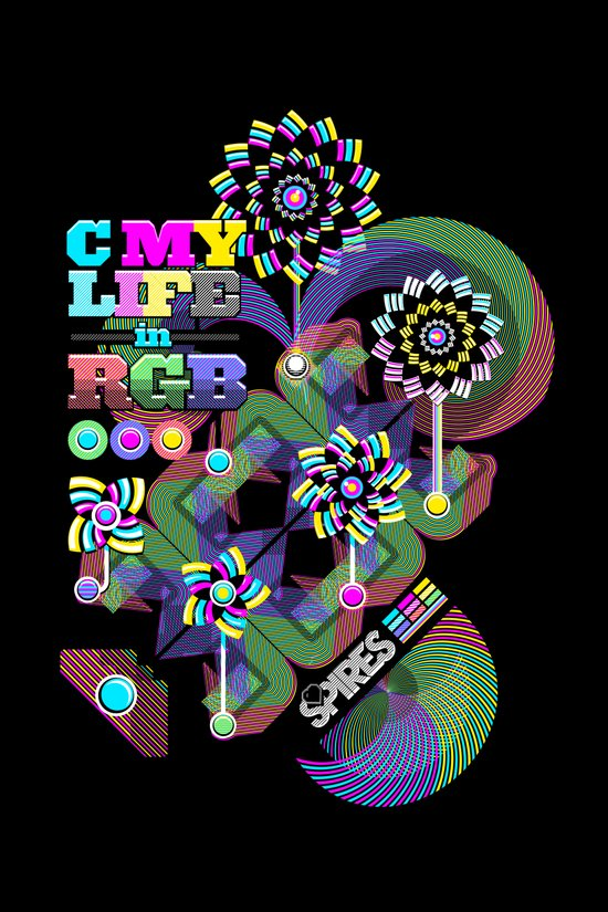 c my life in rgb Art Print
