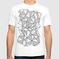 Abstract Spots Mens Fitted Tee White SMALL