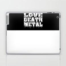 Sharks Love Death Metal Laptop & iPad Skin