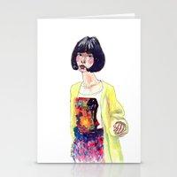 Fashion Illustration . Oriental Girl Stationery Cards