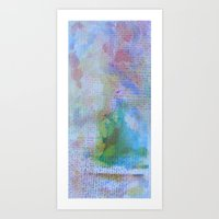 Words And Water Paint 3 Art Print