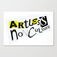 Artless Nonculture (Ransom) Canvas Print