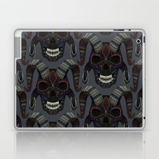 demon skull charcoal Laptop & iPad Skin