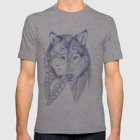 She Wolf Mens Fitted Tee Athletic Grey SMALL