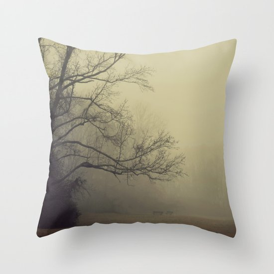 A Gathering of Fog Throw Pillow