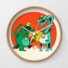 Kaiju Rap Battle Wall Clock