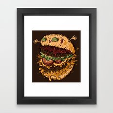Monster Burger Framed Art Print