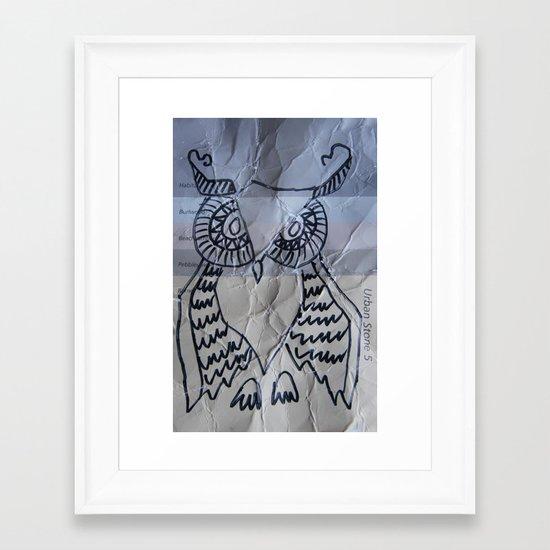 gray owl 02 Framed Art Print