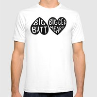 BIG BUTT / BIGGER HEART Mens Fitted Tee White SMALL