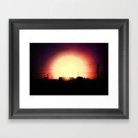 Dropping Sun Framed Art Print