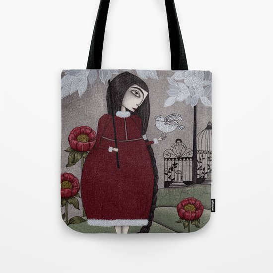 Winterbird, or Hope is a Thing With Feathers Tote Bag