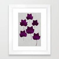 Mapleleaf Purple Framed Art Print