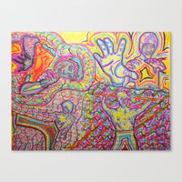 EveryBody's Kung Fu Figh… Canvas Print