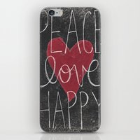 Peace Love Happy iPhone & iPod Skin