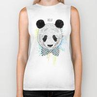 Hello Panda Biker Tank