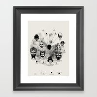 Ancient Faces Infographi… Framed Art Print