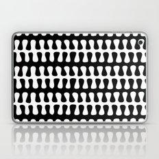 Seaweed Strand black & white Laptop & iPad Skin