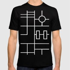 PS Grid Black SMALL Black Mens Fitted Tee