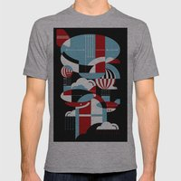 Zeppelins And Balloons Mens Fitted Tee Athletic Grey SMALL