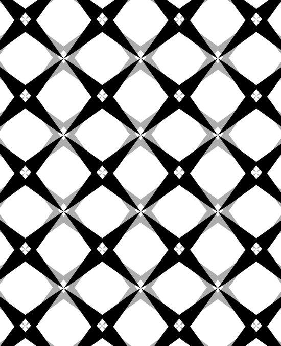BW Pattern (Stars) Art Print