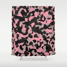 Pink Kitty Camo Shower Curtain