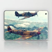Spitfire And Hurricane Water Color And Sketch`` Laptop & iPad Skin
