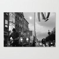 Waiting.. [Black & White… Canvas Print