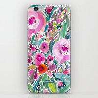 Pink Pow Wow Floral iPhone & iPod Skin