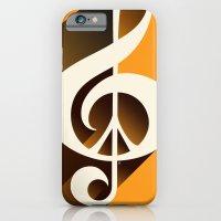 Retro Shadow Music & Pea… iPhone 6 Slim Case